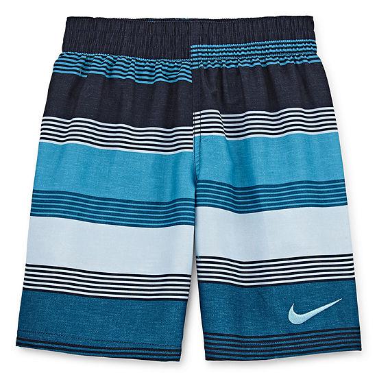 Nike Boys Striped Swim Trunks-Preschool