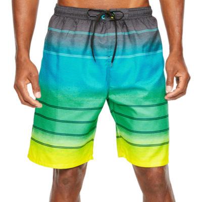 Burnside Frequency Striped Swim Trunks