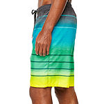 Burnside Frequency Striped Swim Trunks