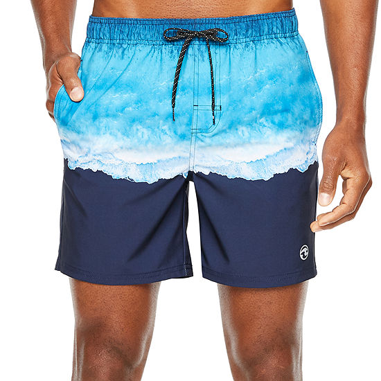Ocean Current Aerial Volley Swim Trunks