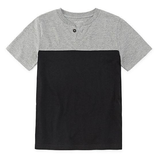 Arizona Boys Short Sleeve Henley Shirt