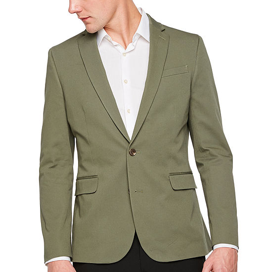JF J.Ferrar 360 Everyday Stretch Olive Slim Fit Sport Coat