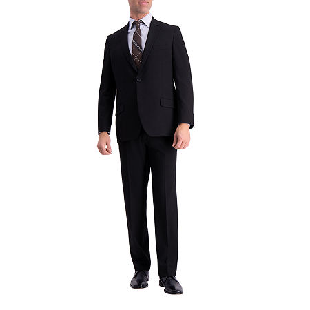 J.M. Haggar 4 way Stretch Classic Fit Suit Jacket, 48 Regular, Black