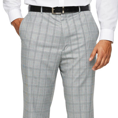 JF J.Ferrar Checked Classic Fit Suit Pants - Big and Tall