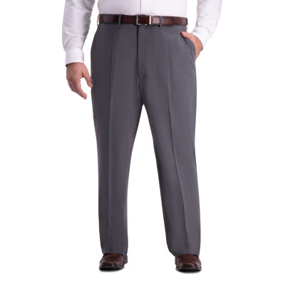 Haggar Mens Classic Fit Flat Front Pant-Big and Tall