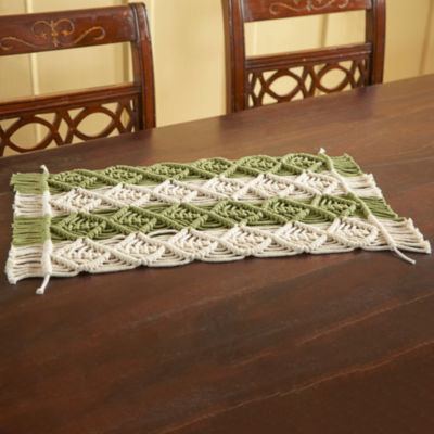 Better Trends Macrame 2 Tone 4-pc. Placemat