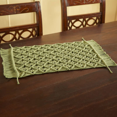 Better Trends Macrame Solid 4-pc. Placemat