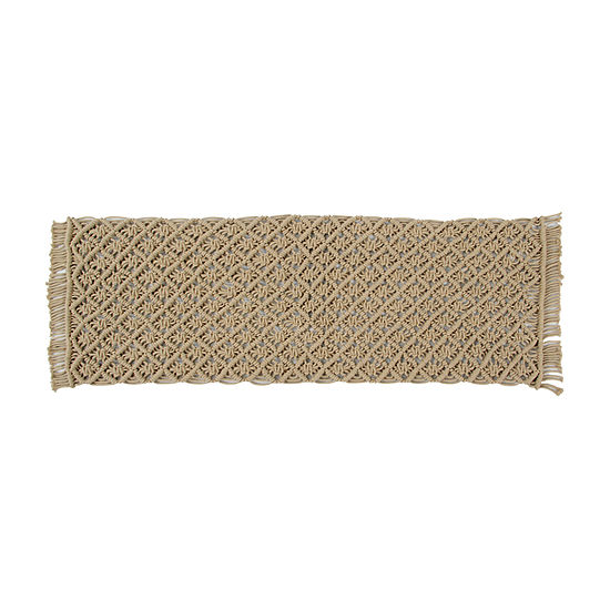 Better Trends Macrame Solid Table Runner