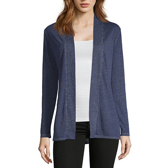 Liz Claiborne Womens Long Sleeve Cardigan
