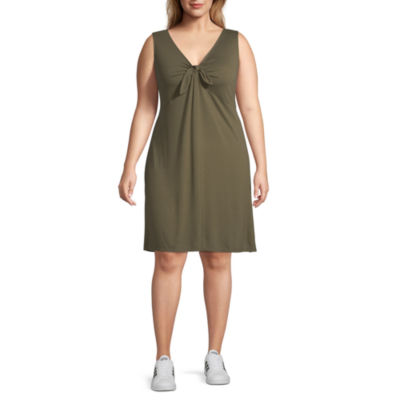 a.n.a Sleeveless Swing Dresses-Plus