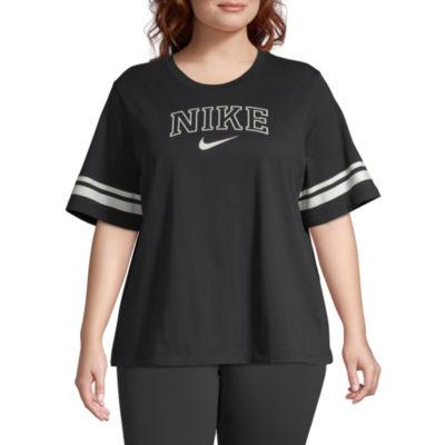 Nike ® Womens Crew Neck Short Sleeve T-Shirt Plus