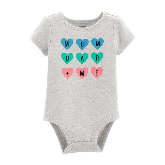 Carter's Slogan Bodysuit Girls Bodysuit-Baby