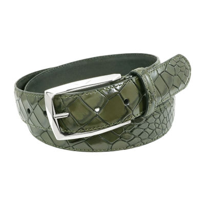 Stacy Adams® Ozzie 34mm Croc Embossed Leather Belt
