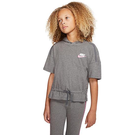 Nike Girls Cap Sleeve Hoodie-Big Kid
