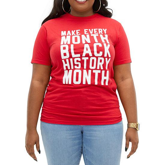 Black History Month Unisex Adult Crew Neck Short Sleeve T-Shirt