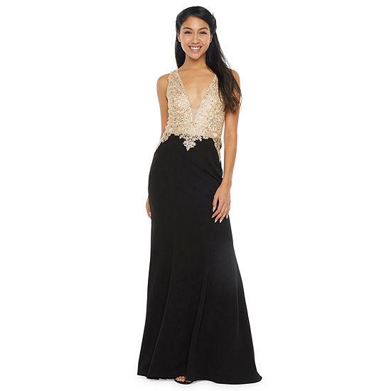 Speechless Sleeveless Applique Fit & Flare Dress- Juniors