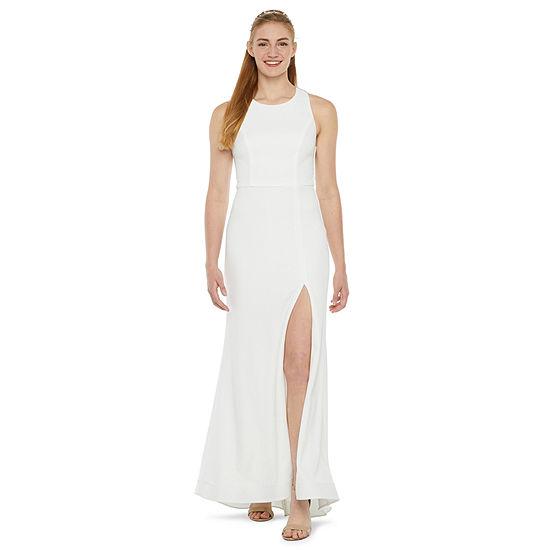 B. Smart-Juniors Sleeveless Applique Fit & Flare Dress