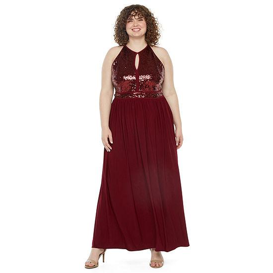 Morgan & Co. Plus Sleeveless A-Line Dress-Juniors