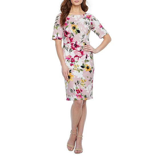 Alyx Short Sleeve Floral Sheath Dress
