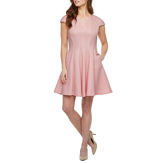 DR Collection Short Sleeve Fit & Flare Dress