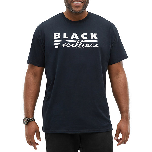 Big and Tall Black History Month Mens Crew Neck Short Sleeve Graphic T-Shirt