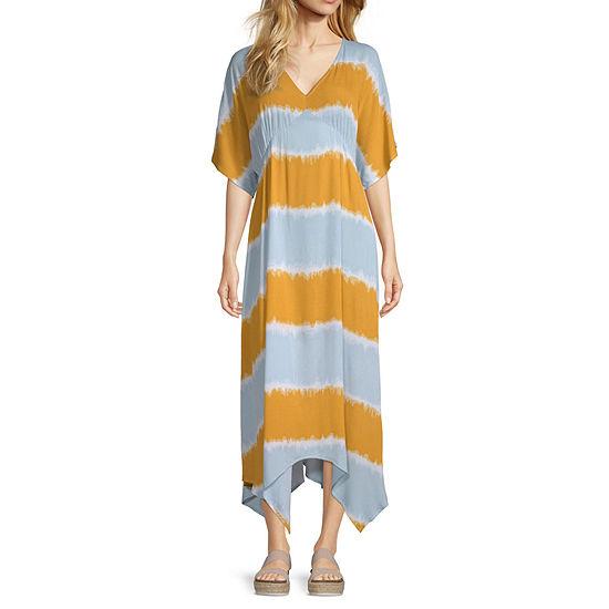 Artesia Sharkbite Hem Short Sleeve Empire Waist Dress