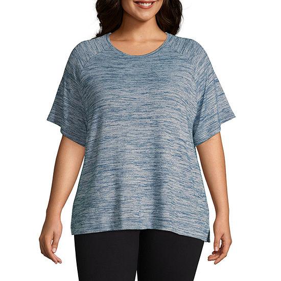 St. John's Bay Plus-Womens Round Neck Short Sleeve T-Shirt