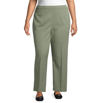 Alfred Dunner-Plus Chesapeake Bay Womens Straight Flat Front Pant