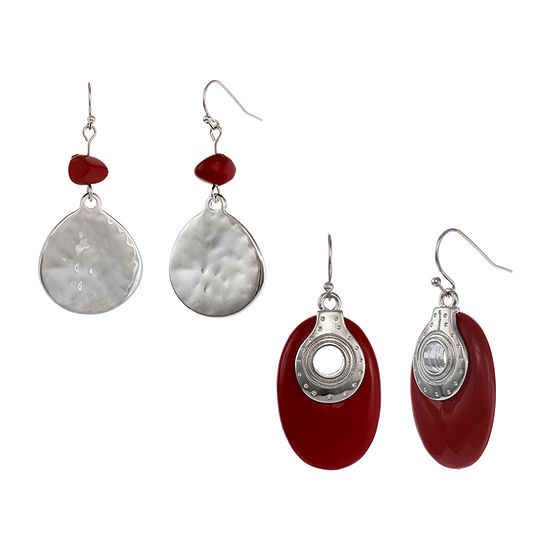 Mixit 2 Pair Drop Earrings