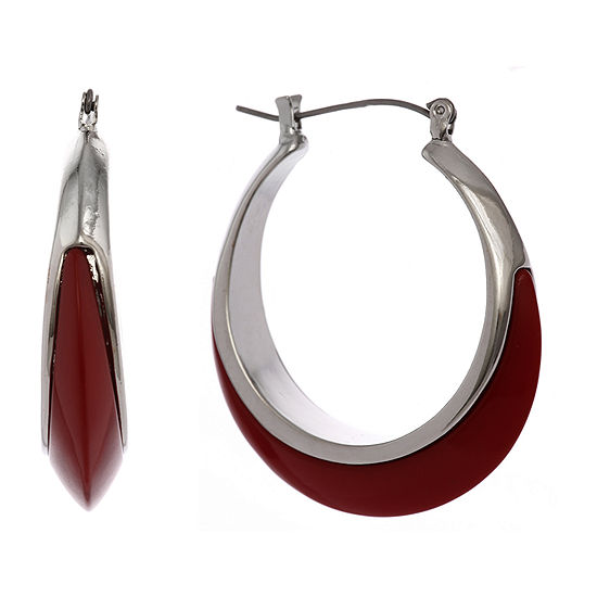 Mixit Red Hoop Earrings