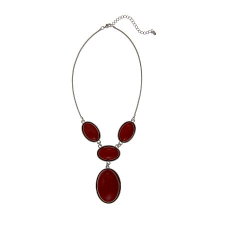 Mixit 16 Inch Pendant Necklace, One Size , Red