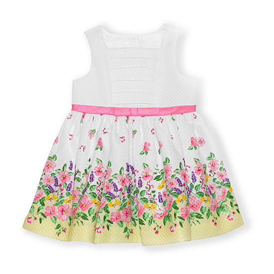 Nannette Baby Girls Sleeveless Floral A-Line Dress