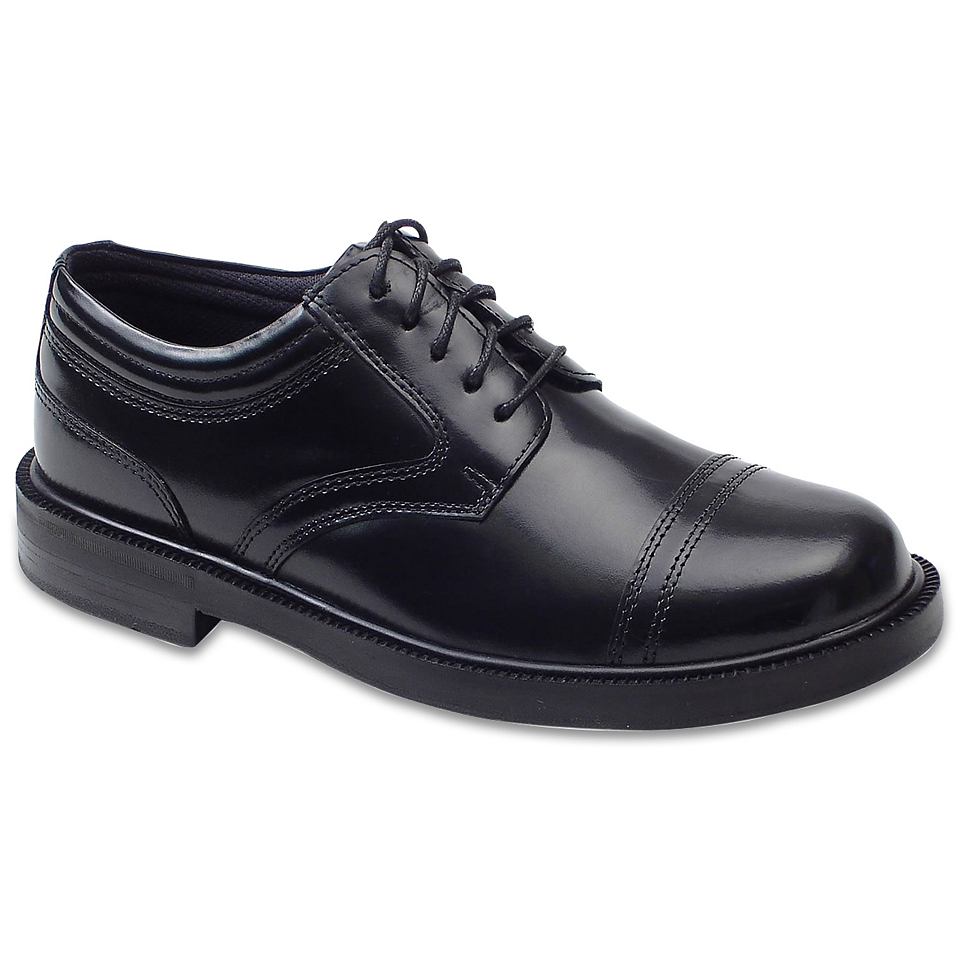 Deer Stags Telegraph Mens Oxford Shoes, Black