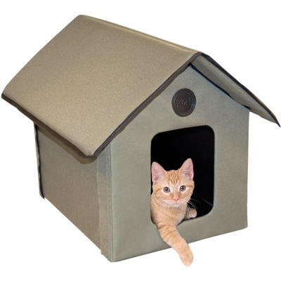 "K & H Manufacturing Outdoor Heated Kitty House 22""L X 18"" W X 17"" H 20 Watts"""