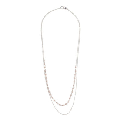 Mixit™ Silver-Tone Simulated Pearl 2-Row Necklace