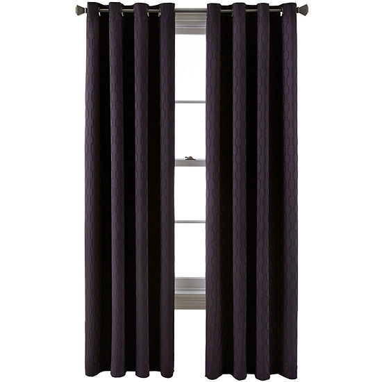 Liz Claiborne Luna Grommet-Top Lined Blackout Curtain Panel