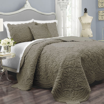 Vue??? Charlotte Faux-Fur 3-pc. Coverlet Set