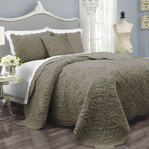 Vue™ Charlotte Faux-Fur 3-pc. Coverlet Set