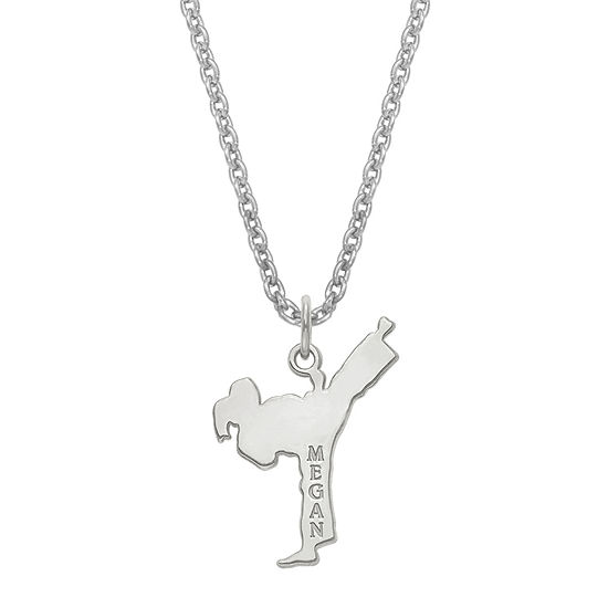Personalized Karate Name Pendant Necklace