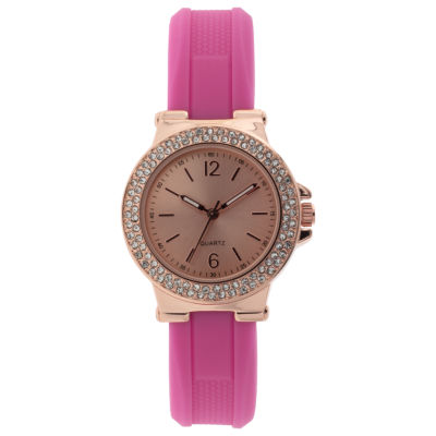 Mixit Womens Pink Strap Watch-Jcp2979rpk
