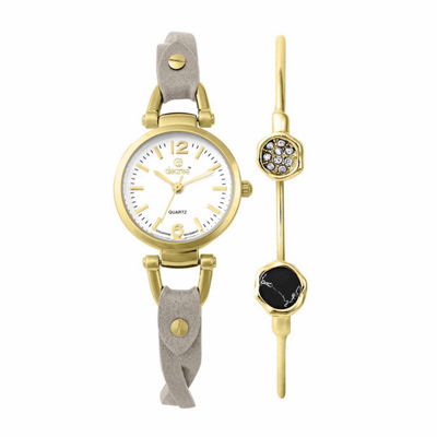 Decree Womens Gray 2-pc. Watch Boxed Set-Pt3164agdgy