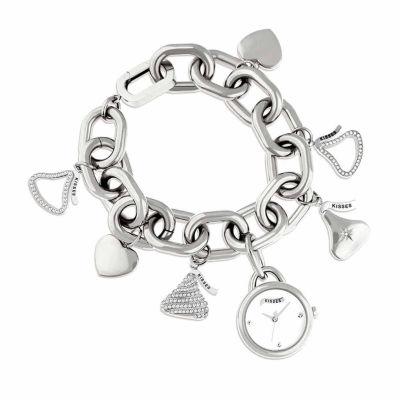 Hershey Kisses Womens Silver Tone Bracelet Watch-Ks008sl