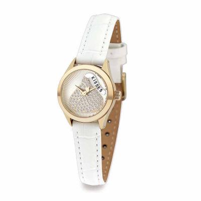 Hershey Kisses Womens White Strap Watch-Ks003gdwt
