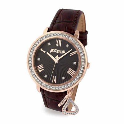 Hershey Kisses Womens Brown Strap Watch-Ks013rgbn