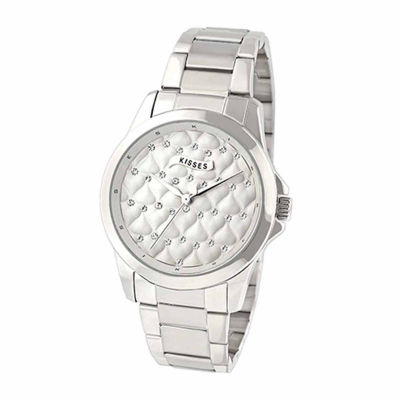 Hershey Kisses Womens Silver Tone Bracelet Watch-Ks004sl