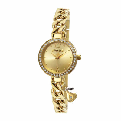 Hershey Kisses Womens Gold Tone Bracelet Watch-Ks007gd