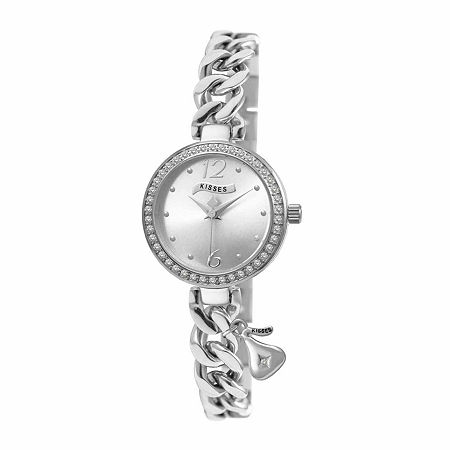 Hershey Kisses Womens Silver Tone Stainless Steel Bracelet Watch - Ks007sl, One Size , No Color Family