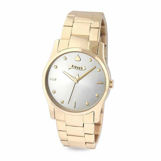 Hershey Kisses Womens Gold Tone Stainless Steel Bracelet Watch-Ks022gd