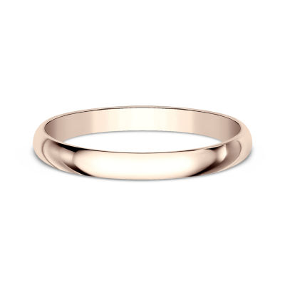 Womens 14K Rose Gold Wedding Band JCPenney