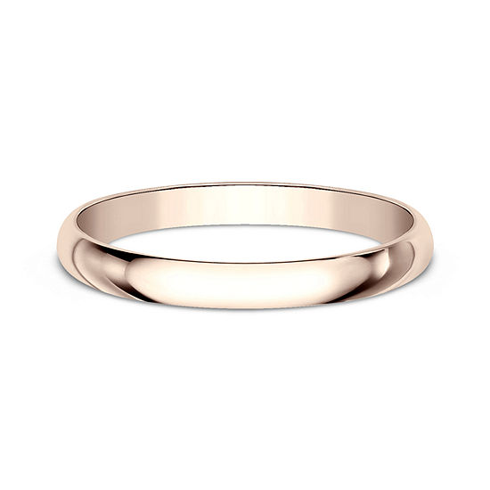 Wedding Bands For Women.Womens 14k Rose Gold Wedding Band